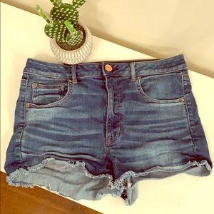 AEO denim cutoff shorts